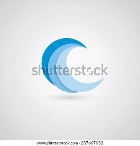 Wave logo design. Vector logo