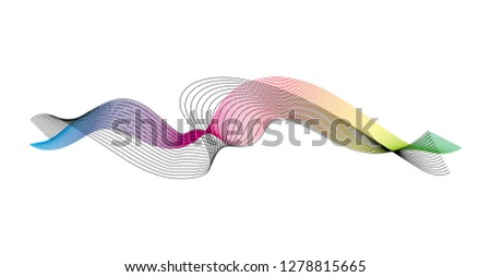 wave of the many colored and