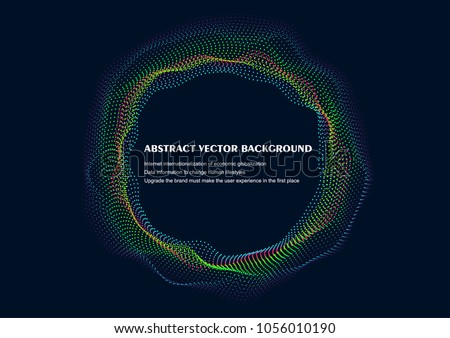 Wave particle abstract vector background illustration #1056010190
