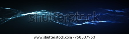 wave pattern vector 3d glowing