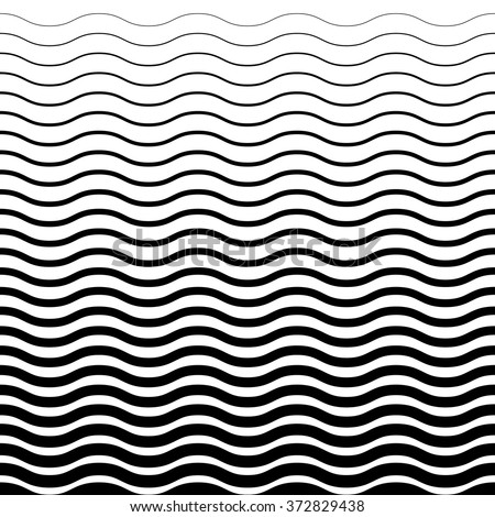 Wave Pattern. Wave Background in Vector