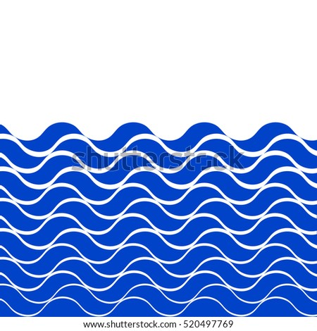 wave sea vector background