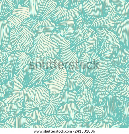 wave seamless pattern in doodle