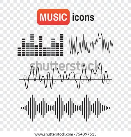 wave sound music. Sound waves concept vector