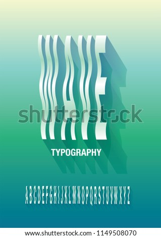 wave typography design vector/illustration