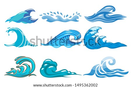 wave vector set graphic clipart