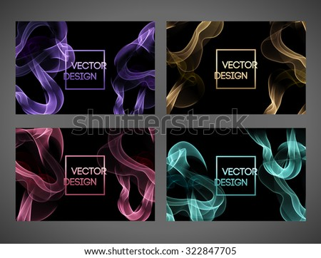 abstract party flyer template with smoke background download free