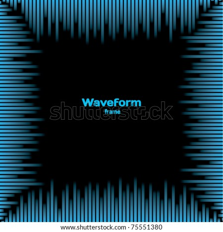 Waveform frame - stock vector