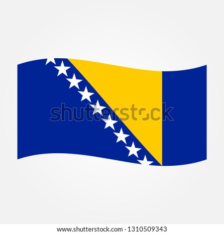 waves flag of bosnia and