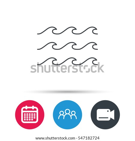 waves icon sea flowing sign
