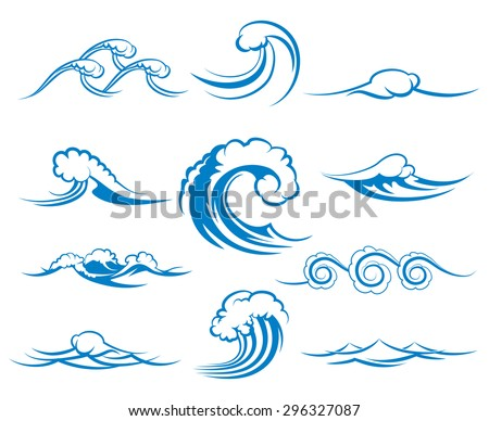 waves of sea or ocean waves