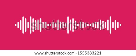 Waves of the equalizer isolated on background. EQ Vector Illustration.