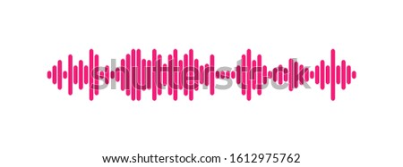 Waves of the equalizer isolated on background. EQ Vector Illustration. Stock photo ©