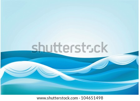 waves of the ocean and blue sky