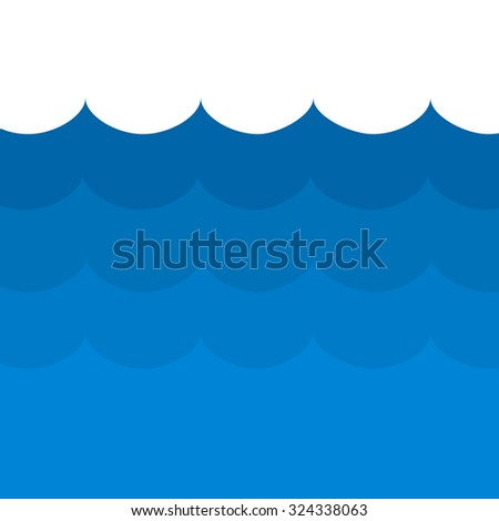 waves on the ocean vector