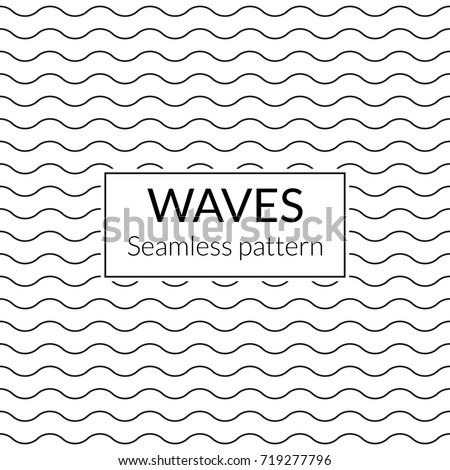 Waves seamless background. Water pattern. Wavy lines texture. Vector illustration.