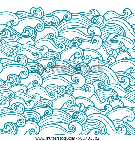waves seamless border pattern