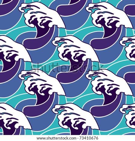 Waves - seamless pattern