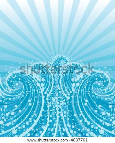 waves vector illustration