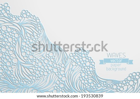 waves vector paper background
