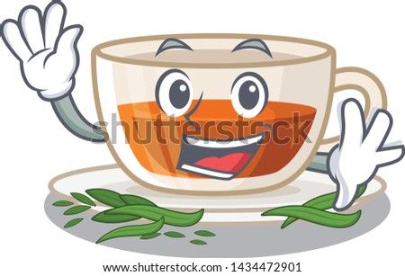 waving darjeeling tea in the