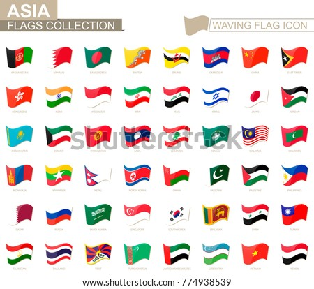 asia flags set 2 download free vector art stock graphics images