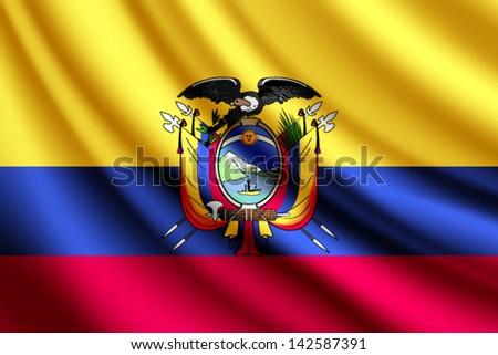 Ecuador Vector Flag Waving Flag of Ecuador Vector