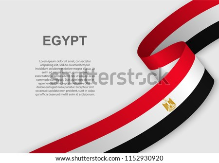 waving flag of Egypt. Template for independence day. vector illustration
