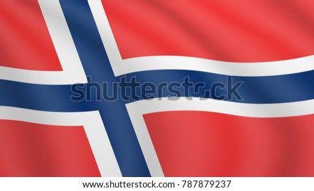 waving flag of norway current