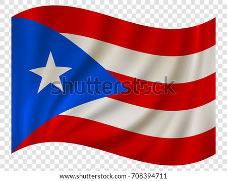 waving flag of puerto rico is a