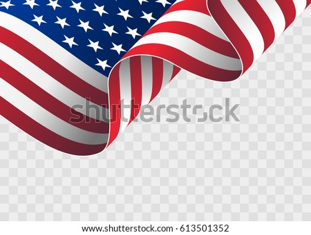 waving flag of the united...