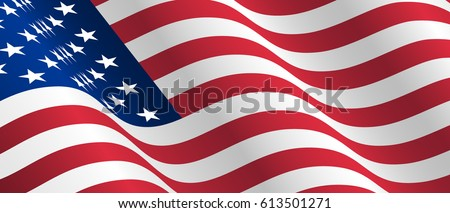 waving flag of the United States of America. Waving USA Flag. American Flag Flowing. American Flag in the Wind