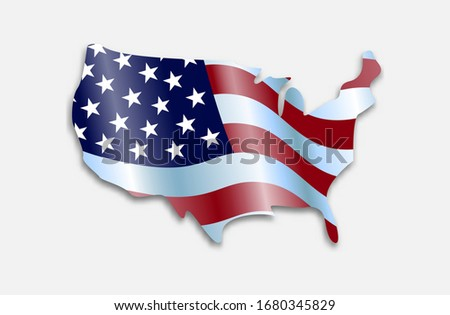waving flag of the united