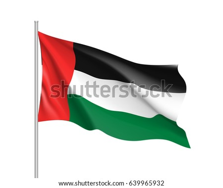 waving flag of united arab