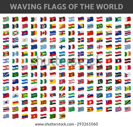 waving flags of the world