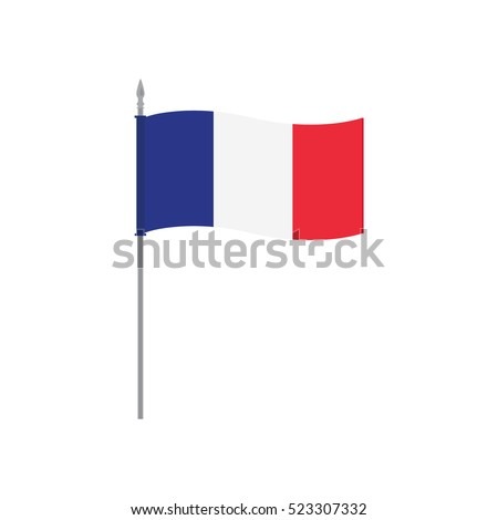 waving french flag on a