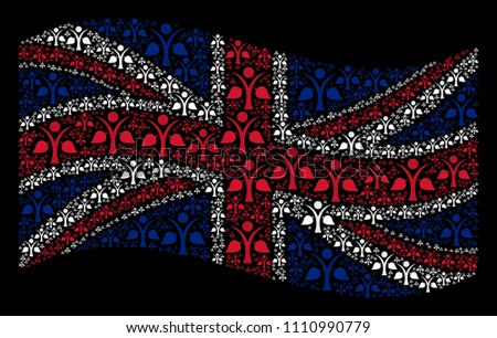 waving great britain state flag