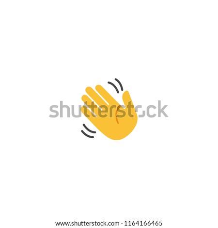 Waving Hand Vector Flat Icon