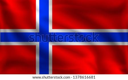 waving norwegians flag  the