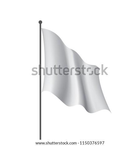 Waving the white flag on a white background #1150376597