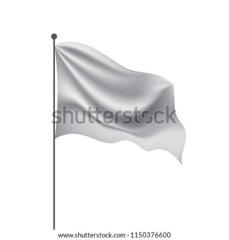 Waving the white flag on a white background #1150376600