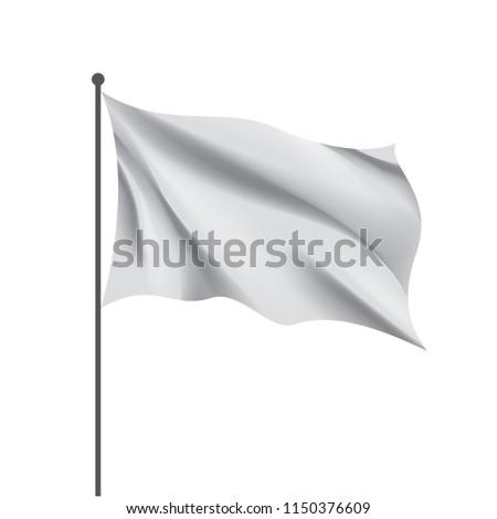 Waving the white flag on a white background #1150376609