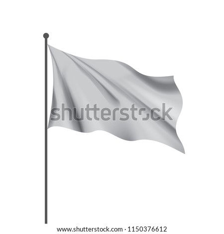 Waving the white flag on a white background #1150376612