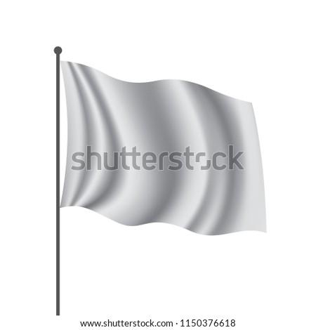 Waving the white flag on a white background #1150376618