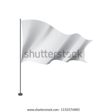 Waving the white flag on a white background #1150376885
