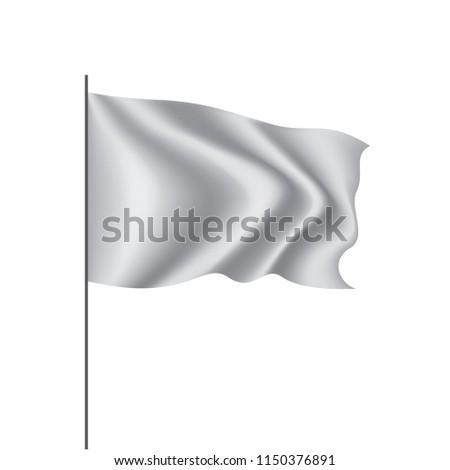 Waving the white flag on a white background #1150376891