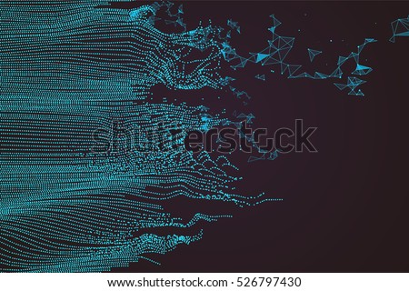 stock-vector-wavy-abstract-graphic-design-a-sense-of-science-and-technology-background