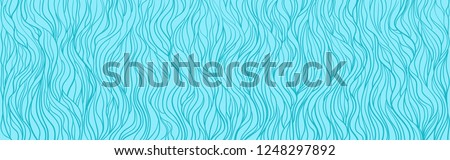 Wavy background. Hand drawn waves. Seamless wallpaper on horizontally surface. Stripe texture with many lines. Waved pattern. Colored illustration for banners, flyers or posters