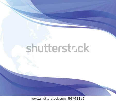 wavy blue and white background  - vector