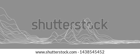 wavy curve line, for concept minimal skyline, wave, sea. Foto d'archivio ©
